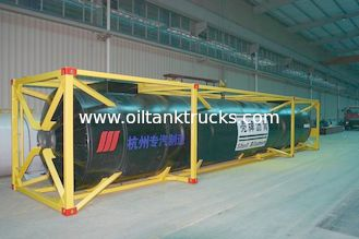 China Carbon Steel Q345D Liquid 40Ft Iso Tank Container Storage Bitumen supplier