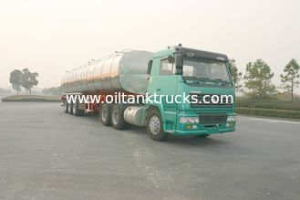 China 42000 Litre Liquid Tank Truck 3 Axles Chemical Semi-Trailer Steel Aluminum supplier