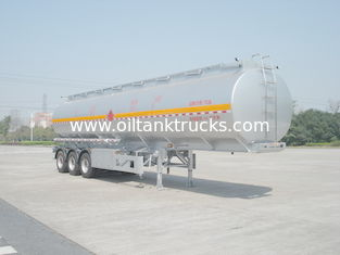 China 46000L Aluminum Alloy 3 Axles Diesel Oil Tank Trailer , Light Gasoline Trailer supplier