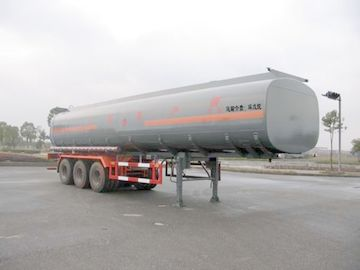 China Steel Chemical Liquid Tank Truck Transport Cyclopentane With 3 Axles 46cbm distributor
