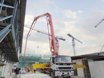 China 37m (6x4) ISUZU 360HP Concrete Pump Trucks SSAB Steel Concrete Pumper Truck distributor