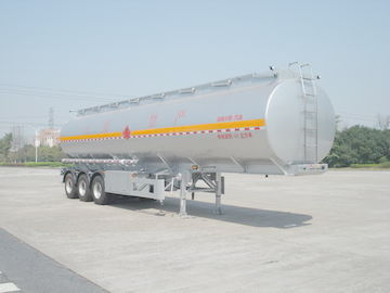 China 46000L Aluminum Alloy 3 Axles Diesel Oil Tank Trailer , Light Gasoline Trailer distributor