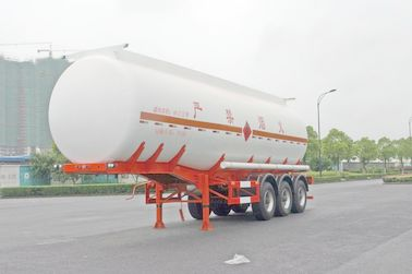 China Gooseneck Type Oil Tank Trailer 3x13T Fuwa Axle 28600L For Petroleum / Gasoline factory