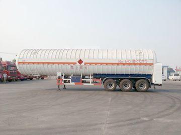 China Double Layered 56000L 3x13T FUWA alxe Cryogenic LNG Tank Semi - trailer distributor