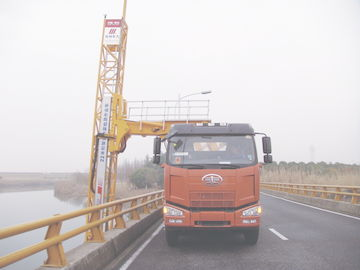 China Truss Type Bridge Inspection Truck FAW chassis 8x4 206KW(280HP) max span width to 4m and max span height to 5m distributor